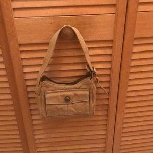 Small  Aeropostale's cloth purse, tan in color